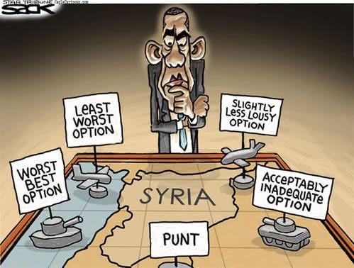 Syria War Room, by Steve Sack