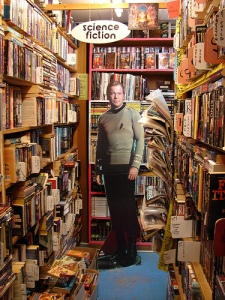 The science fiction section at City Lights Bookstore