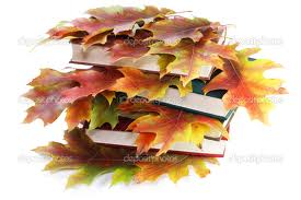 leaves books