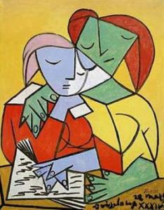 Pablo-Picasso-Two-Girls-Reading