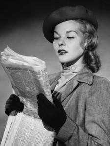 woman-reading-newspaper