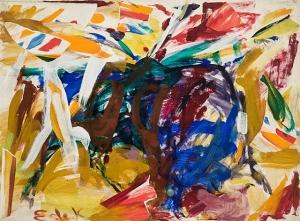 Charging Bull, Elaine de Kooning, 1959