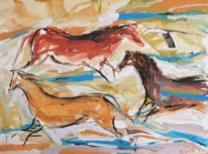 Cave Horses, Elaine de Kooning