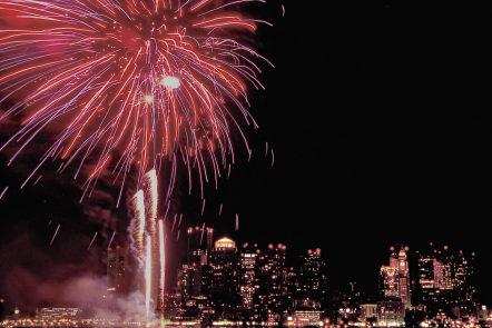 First Night fireworks, Boston