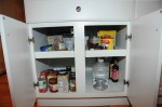 cabinet in kitchen