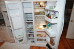 fridge in kitchen