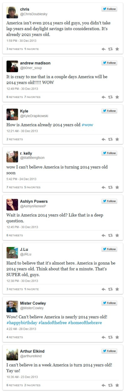 Meet The People Who Think America Is 2014 Years Old 2013-12-30 20-23-53