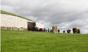 Newgrange is a neolithic burial mound, older than the pyramids, located in Ireland. Photograph: Alamy