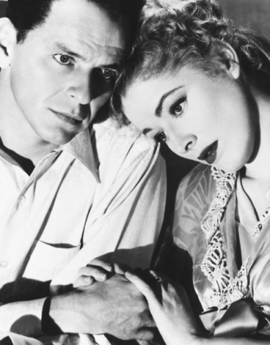 Eleanor Parker and Frank Sinatra in Otto Preminger's The Man With The Golden Arm