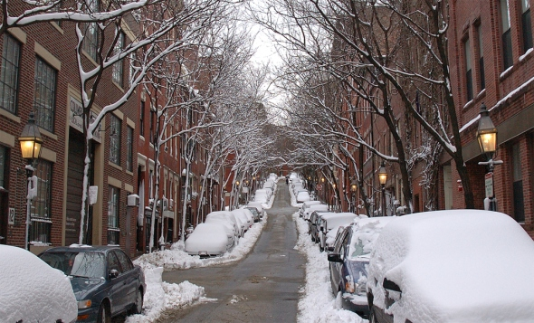 Boston's Beacon Hill in Winter