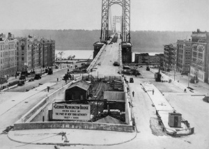 George Washington Bridge Under Construction