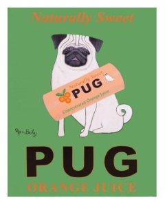 Pug-Orange-Juice-Art-Poster-Print-by-Ken-Bailey