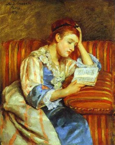 Mary Cassatt, Young Woman Reading