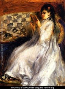 Young-Woman-In-White-Reading Renoir