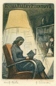 40def3de76e3f32652389ba1e75c3e83 Pavel Šimon Ex-libris Kniha Elisky Pihrtové