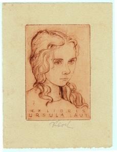 7fa59304b52c6ef4b87a2992aa906494 Rudolf Koch (1902-1985) Ex Libris Ursula Laut (1940)
