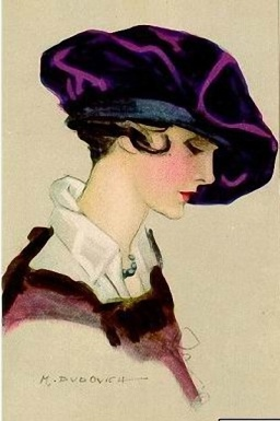 7ff38369540c4e315e2af644745c7356 Purple hat - Marcello Dudovich