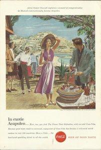 Acapulco Coke Original 1957 Vintage Print Ad