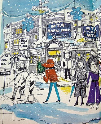 Harvard Square in Winter, Barbara Westman, 1970