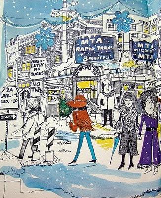 Harvard Square in Winter, Barbara Westman, 1970