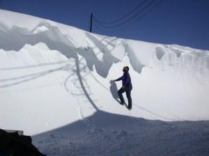 Snowdrift in Antarctica