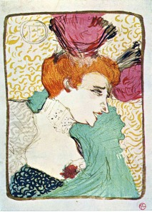 Woman Wearing Purple Hat - Toulouse Lautrec