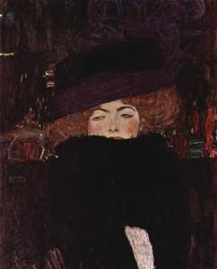 Woman with Purple Hat Gustav Klimt (Austrian, 1862-1918) oil on canvas, 1912