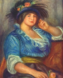 Young woman with a rose in her hat - Pierre-Auguste Renoir, 1913
