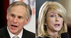 Greg Abbott and Wendy Davis