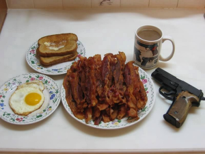 How Europeans picture an American breakfast