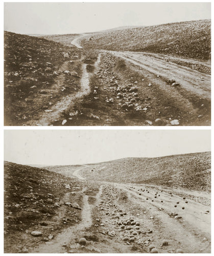 Roger Fenton's famous image, 'The Valley of the Shadow of Death'.