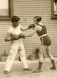 put em up (louise adler in a promo shot for the match in which she defeated joe rivers, 1926)