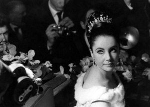 Taylor in 1965 wearing the diamond tiara given to her by Mike Todd, her third husband. Photo: Rex