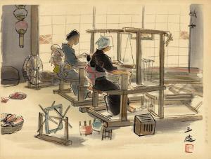 Wada, Sanzo (1883-1967) - Women Weavers
