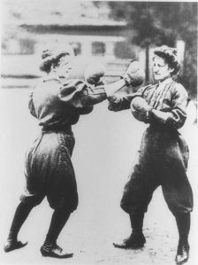 Women boxing at the 1904 Olympic Games in St. Louis