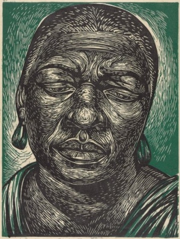 Charles White, Bessie Smith | Harvard Art Museums, linocut