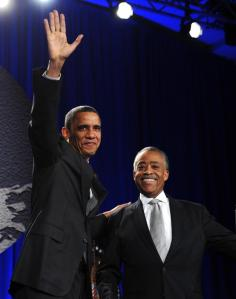 Rev. Al Sharpton with President Obama