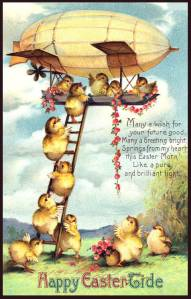 Vintage-Easter-with-Chicks-and-blimp