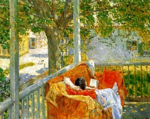 Couch on the Porch at Cos Cob by Childe Hassam, 1914