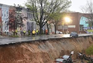 Baltimore landslide