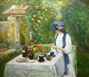 childe-hassam-french tea garden 1910