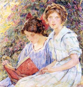 Childe Hassam - Two Women Reading
