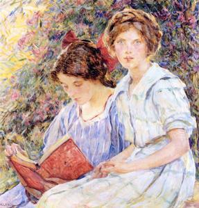 Childe Hassam - Two Women Reading