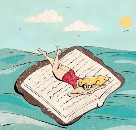 We sailed with the reading by the sea of ​​literature  Navegamos con la lectura por el mar de la literatura (ilustración de Deena Pagliarello)