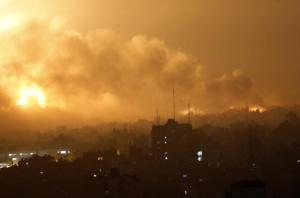 Airstrikes overnight in Gaza Strip (al Jazeera)