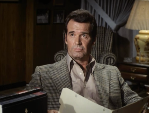 Jim Rockford reading file