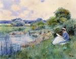 woman-reading Childe Hassam1885