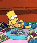 Bart simpson reading