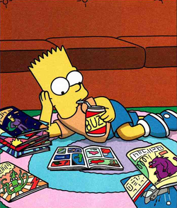 Bart simpson reading