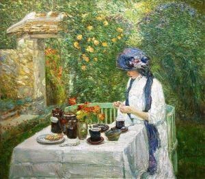 Childe Hassam, French Tea Garden